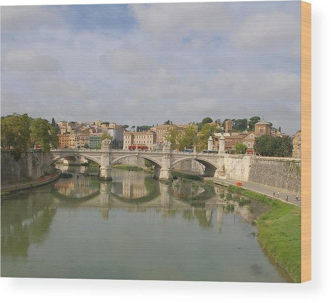 Rome Wood Print featuring the photograph Rome Reflections by Tom Reynen