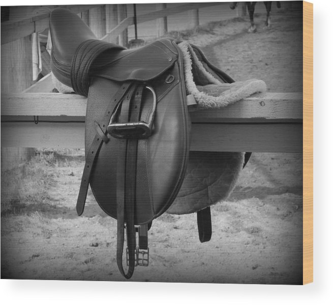 Saddle Up Wood Print featuring the photograph Saddle Up by Karen Cook