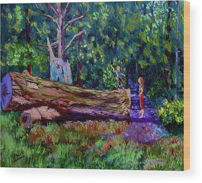 Woods Wood Print featuring the painting Sewp 6 21 by Stan Hamilton