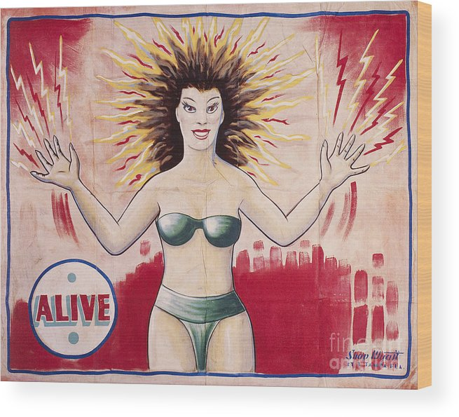 1960s Wood Print featuring the photograph Sideshow Poster, C1965 by Granger