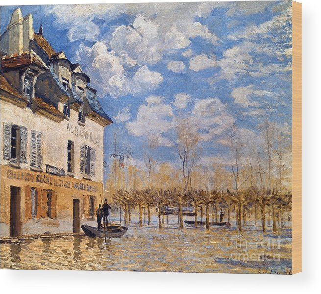 1876 Wood Print featuring the photograph Sisley: Flood, 1876 by Granger