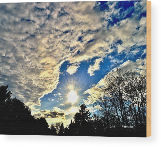 Sunset Wood Print featuring the photograph Sky Opens by Susie Loechler