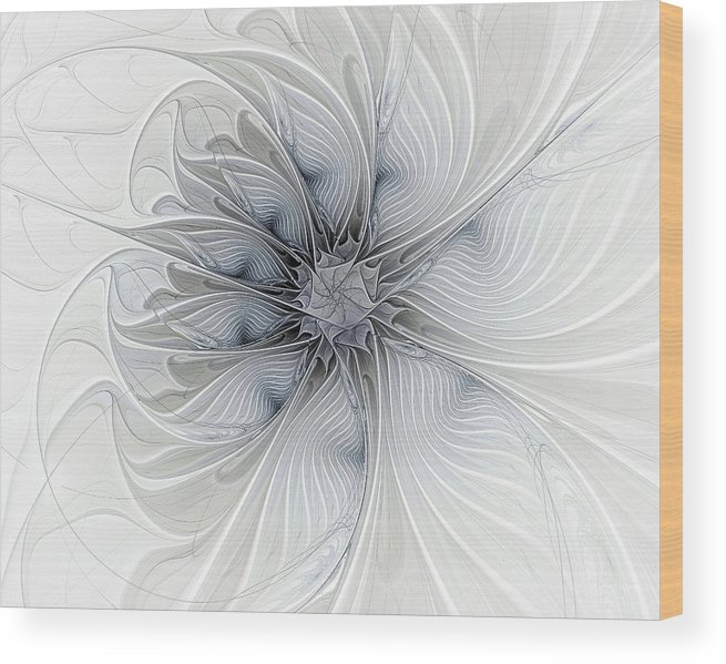 Digital Art Wood Print featuring the digital art Something Blue by Amanda Moore