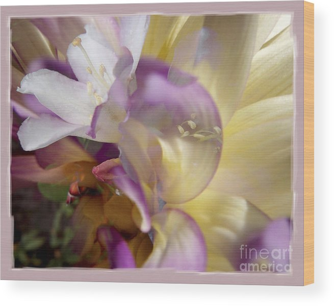 Flower Wood Print featuring the digital art Spring Overture by Chuck Brittenham