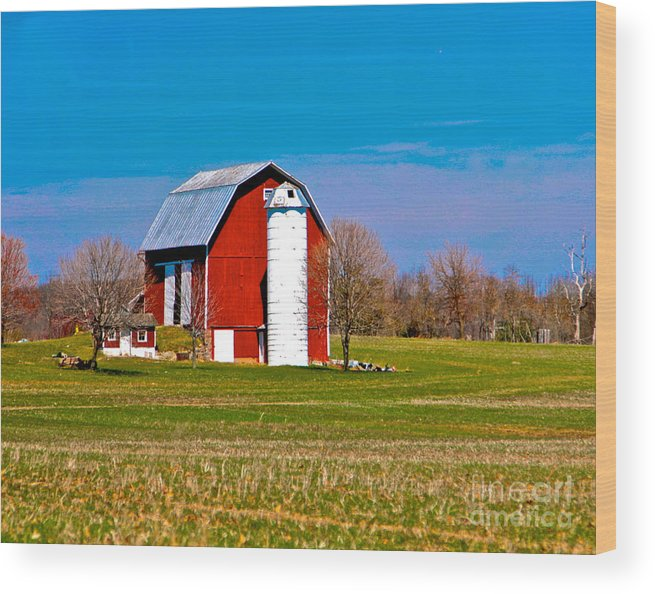 Barn Wood Print featuring the photograph Spring Time On The Farm by Robert Pearson