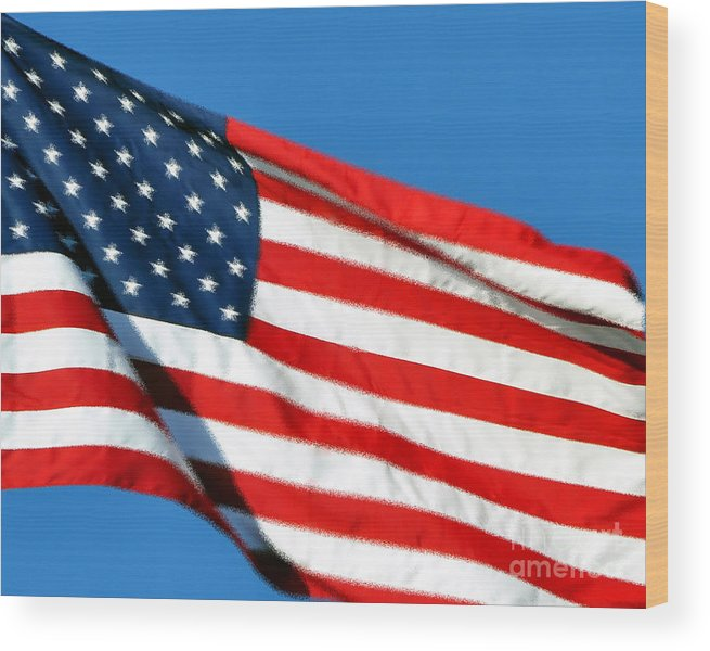 Flag Wood Print featuring the photograph Stars And Stripes by Al Powell Photography USA