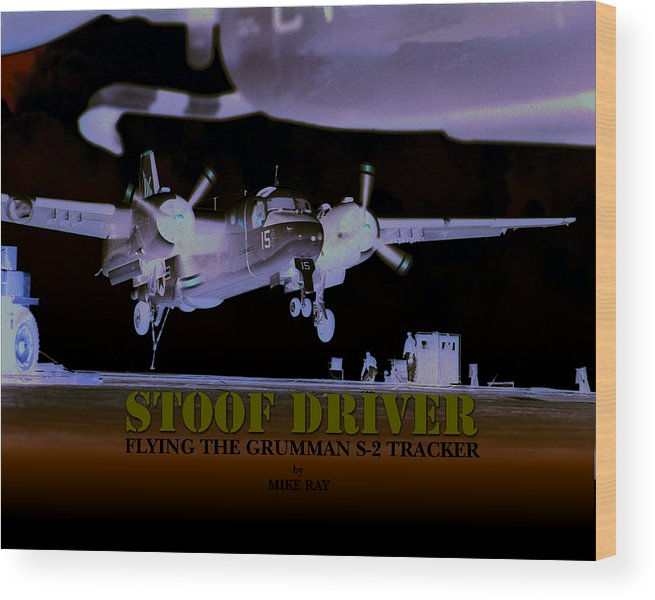 Aviation Wood Print featuring the digital art Stoofdriver Cover by Mike Ray
