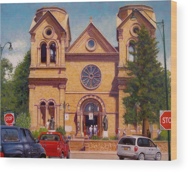 Realism Wood Print featuring the painting Stop by Donelli DiMaria