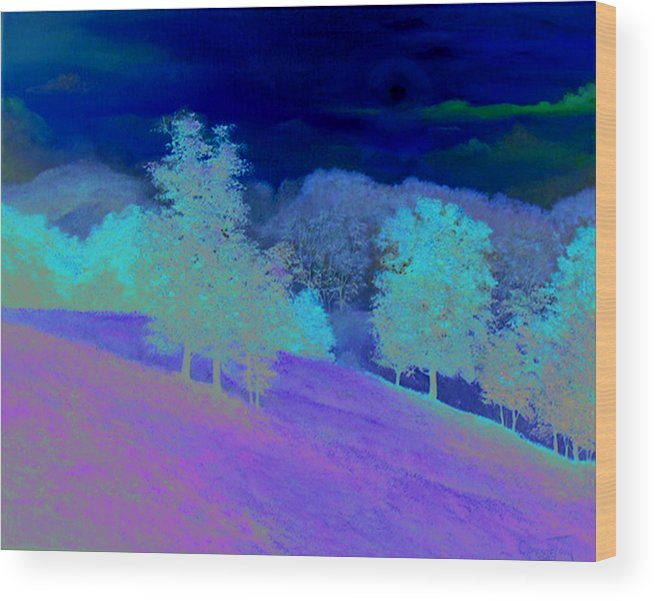 Connie Tom Wood Print featuring the painting Sunrise Over Shenandoah Valley by Connie Tom