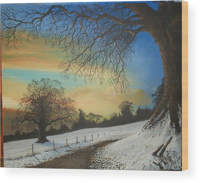 Wood Print featuring the painting Solstice by James Moore
