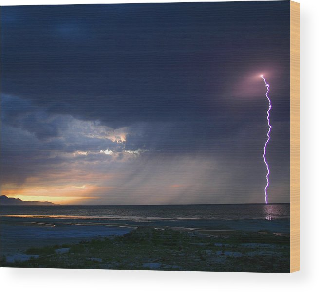 Weather Wood Print featuring the photograph Sunset Surprise by Gene Praag