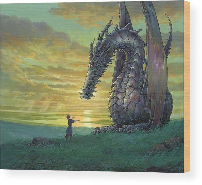 Tales From Earthsea Wood Print featuring the digital art Tales From Earthsea by Mery Moon