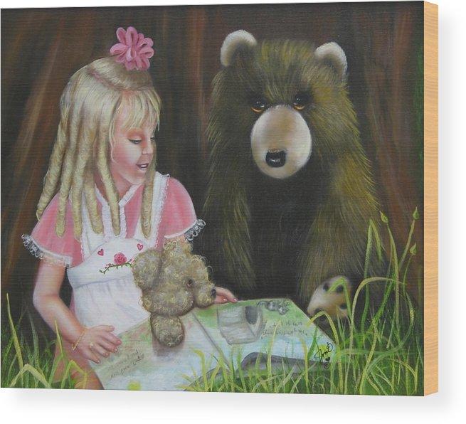 Children Wood Print featuring the painting Teacher by Joni McPherson