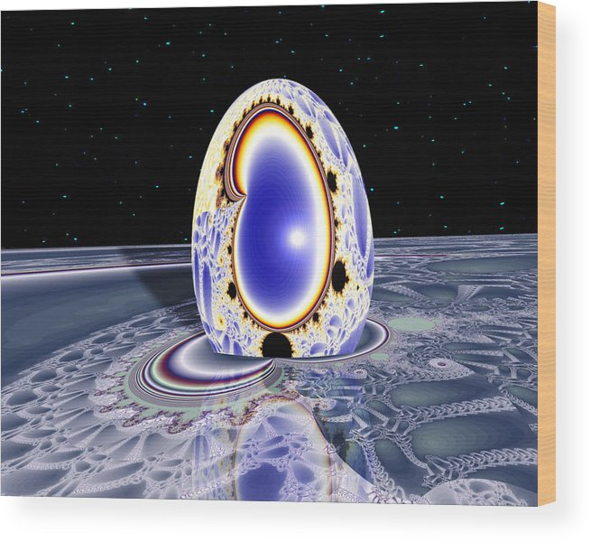 Wood Print featuring the digital art Terra Ovum Two by Roger Soule