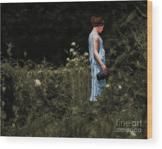 Roman Wood Print featuring the photograph The Gladiator's Wife by Susan Isakson