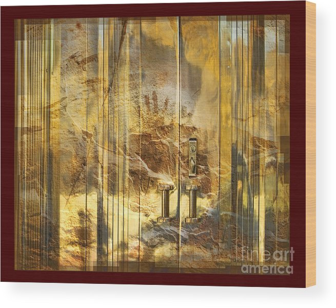 Conservation Wood Print featuring the digital art The Hands Of Time by Chuck Brittenham