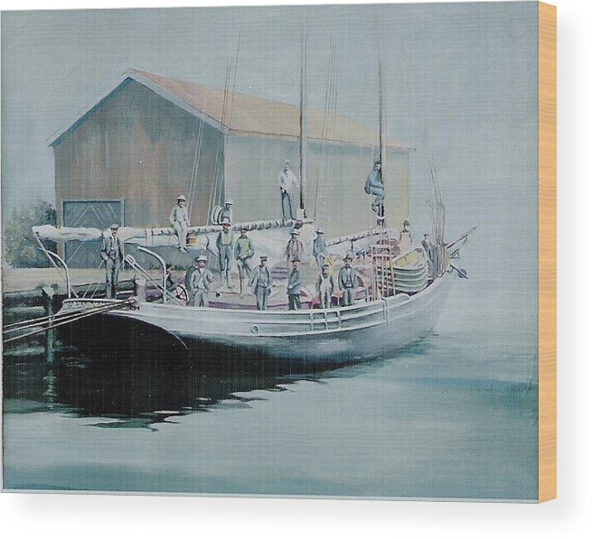 Marine Wood Print featuring the painting The Linus 11 by Barry Smith