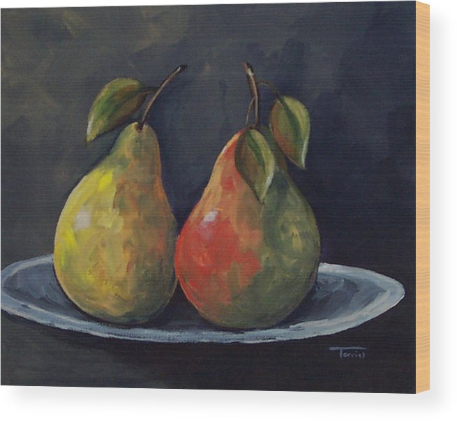 Pear Wood Print featuring the painting The Pears by Torrie Smiley