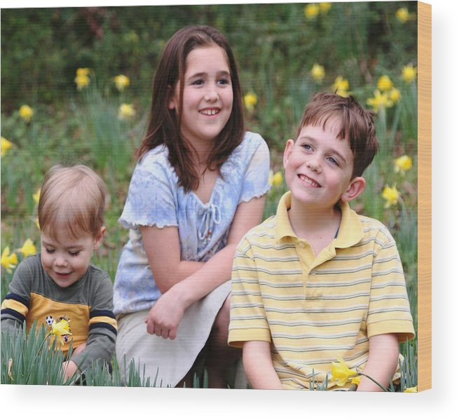 Spring Wood Print featuring the photograph Thoughts Of Spring - J Family by Lisa Johnston