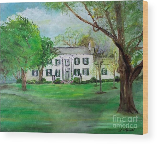 Hoarse Farm Wood Print featuring the painting Town And Country Farm Lexington by Lynda McDonald