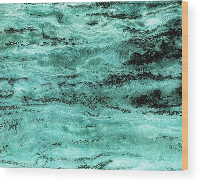 Paul Tokarski Wood Print featuring the photograph Turquoise Water by Paul Tokarski