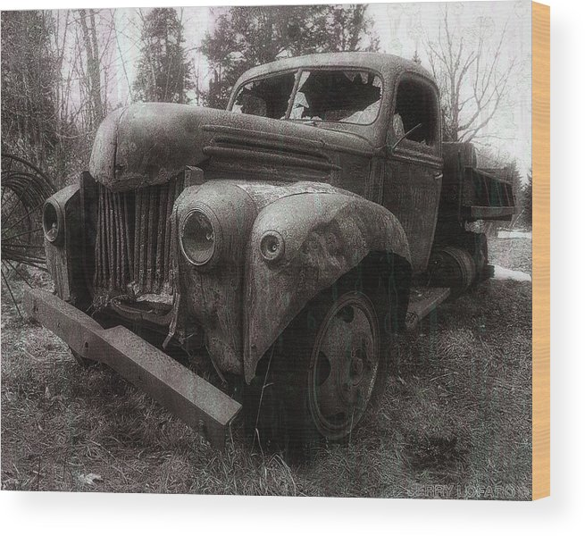 Truck Wood Print featuring the photograph Unquiet Slumbers For The Sleeper by Jerry LoFaro