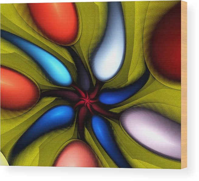 Digital Painting Wood Print featuring the digital art Untitled 3-10-10 by David Lane