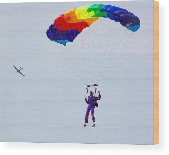 Parachute Wood Print featuring the photograph Untitled by Jennifer Englehardt