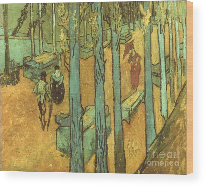 1888 Wood Print featuring the photograph Van Gogh: Alyscamps, 1888 by Granger