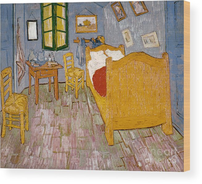 1888 Wood Print featuring the photograph Van Gogh: Bedroom, 1888 by Granger