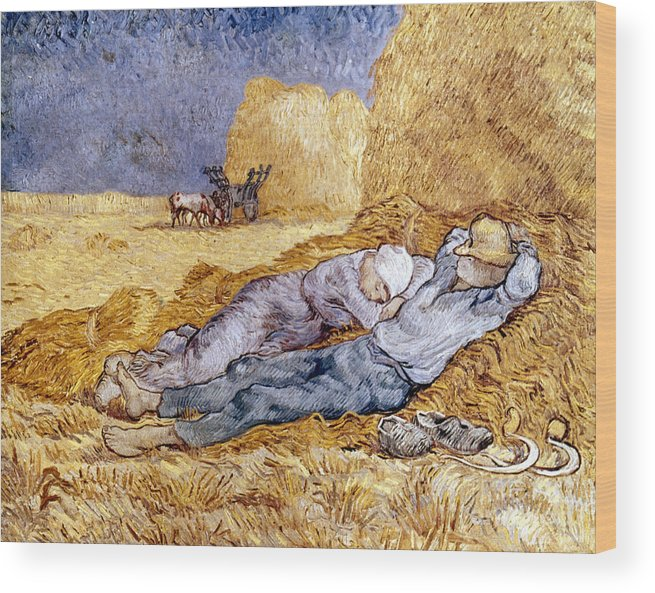 1890 Wood Print featuring the photograph Van Gogh: Noon Nap, 1889-90 by Granger