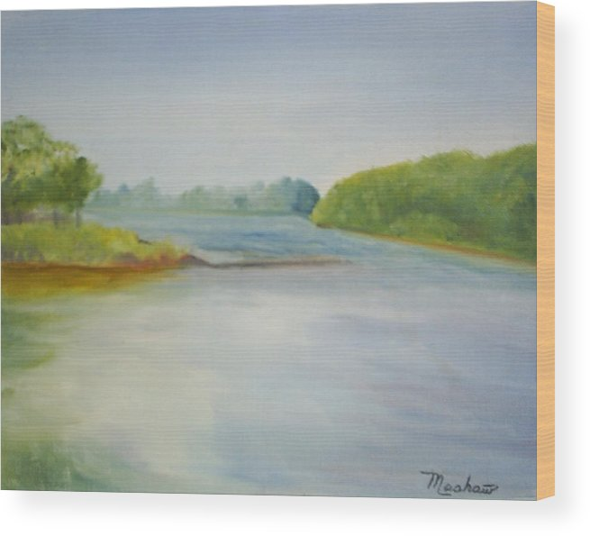 Delaware River Wood Print featuring the painting View Of The Delaware by Sheila Mashaw