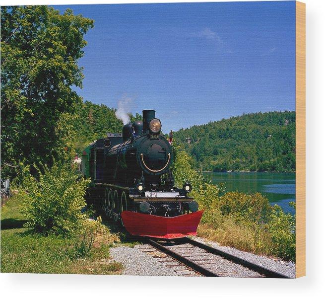 Train Wood Print featuring the photograph Wakefield Steam Train by Gerard Martineau
