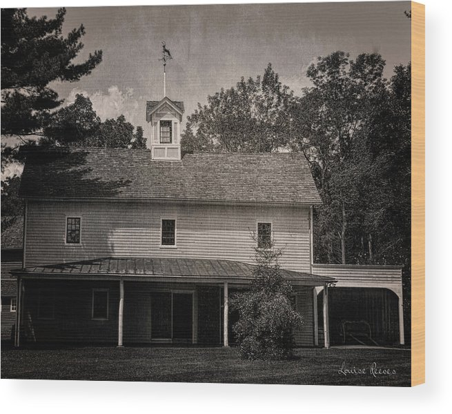 Walnford Wood Print featuring the photograph Walnford Carriage House by Louise Reeves
