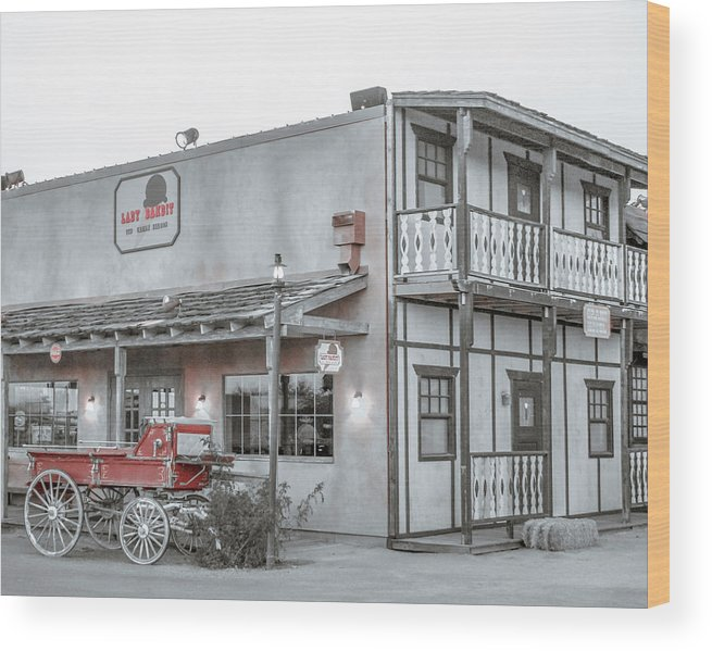 Western Wood Print featuring the photograph Western Carriage Stop by Darrell Foster