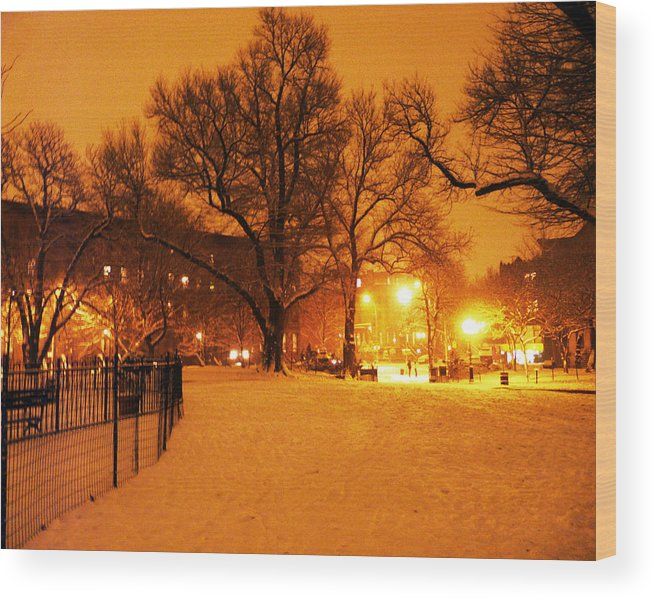 Winter Wood Print featuring the photograph Winter's Solace by Kendall Eutemey