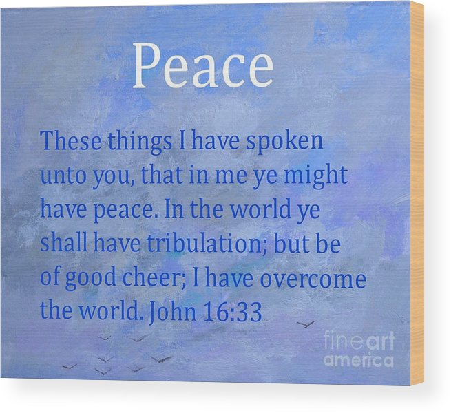 Words Of Peace Wood Print featuring the painting Words Of Peace by Philip Jones
