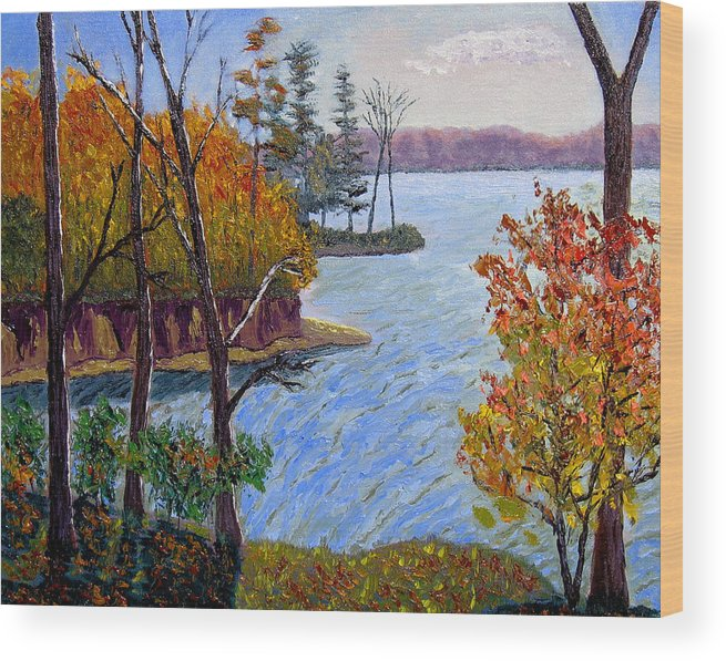 Original Oil On Canvas Wood Print featuring the painting Ecp 10-26 by Stan Hamilton