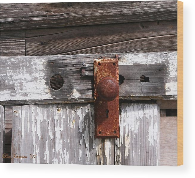 Door Wood Print featuring the photograph Rusty Entry by Lisa Johnston