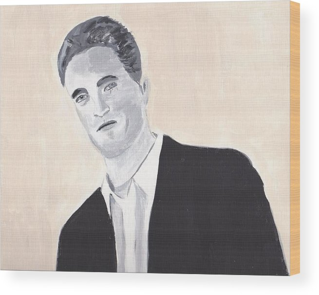 Robert Pattinson Actor Filmstar Movies Famous Faces People Acrylic Wood Print featuring the painting Robert Pattinson 147 by Audrey Pollitt