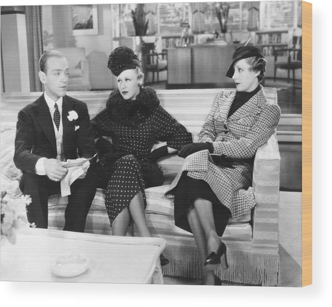 1930s Movies Wood Print featuring the photograph Roberta, From Left Fred Astaire, Ginger by Everett