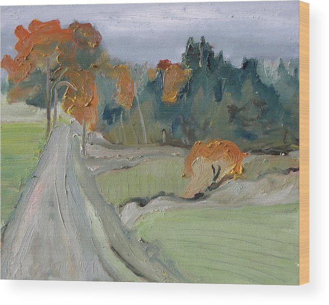 Fournier Wood Print featuring the painting Over The Orange Trees by Francois Fournier