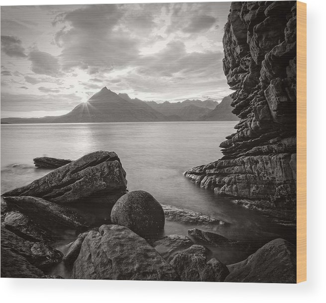 Wood Print featuring the photograph Algoll Skye Scotland by Tomas Urban