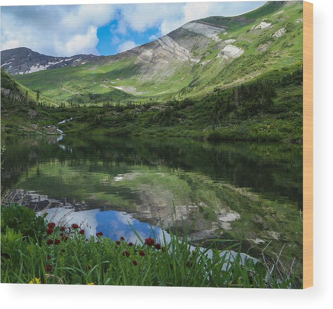 Alpine Lake Wood Print featuring the photograph Alpine Reflections by Kevin Buffington