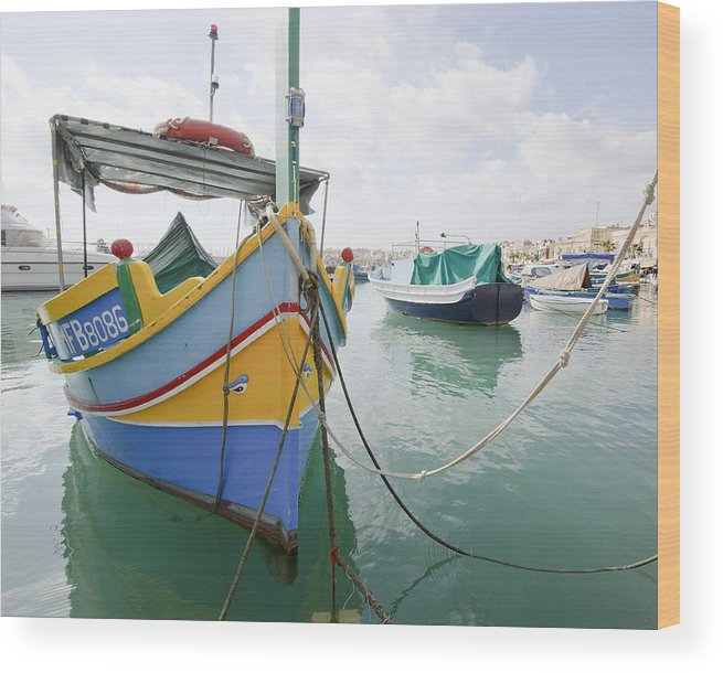 Boats Wood Print featuring the photograph Boats Of Malta by Bob VonDrachek