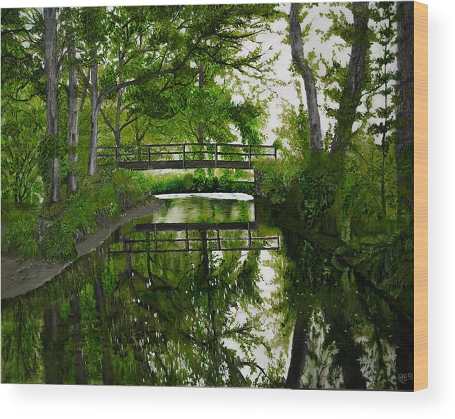 Green Wood Print featuring the painting Go Green by Subhadra Sarkar