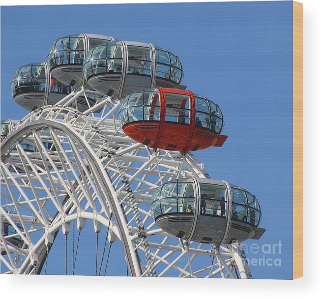 London Eye Wood Print featuring the photograph London Eye 5339 by Jack Schultz