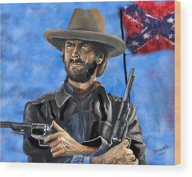 Outlaw Josey Wales - Clint Eastwood Wood Print
