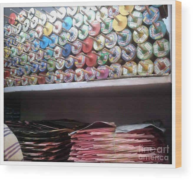 Kite Wood Print featuring the photograph Season Of Kites by Ankit Garg