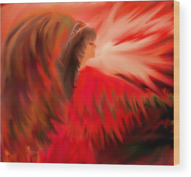 Native Wood Print featuring the digital art Spirit Of An Indian Princess by Sherri's - Of Palm Springs
